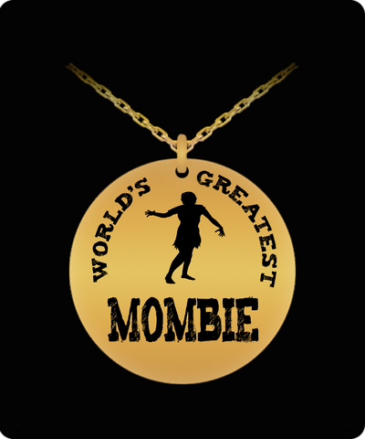 Halloween Engraved Pendant - World's Greatest Mombie - The VIP Emporium
