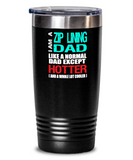 Ziplining Dad Insulated Tumbler - 20oz or 30oz - Hot and Cold Drinks - Funny Gift - The VIP Emporium