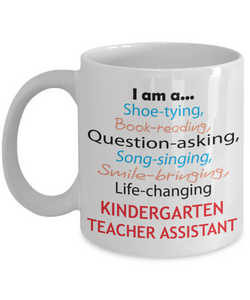 Kindergarten Teacher Assistant Appreciation Gift Mug