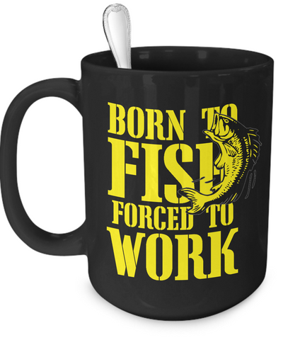 Born to Fish Forced to Work Mug - The VIP Emporium