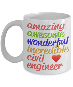 Amazing Awesome Civil Engineer Gift Mug