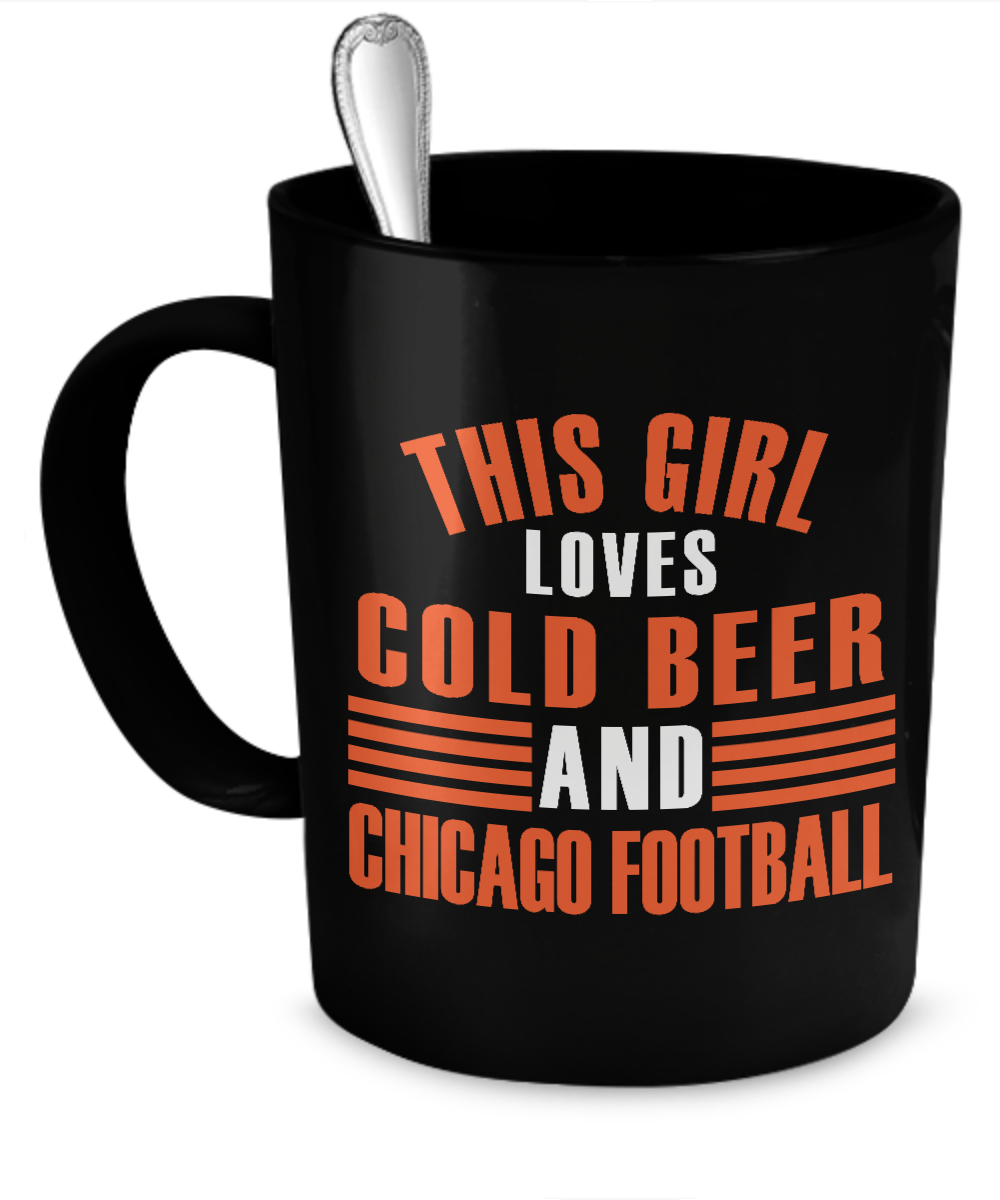 This Girl Loves Cold Beer and Chicago Football