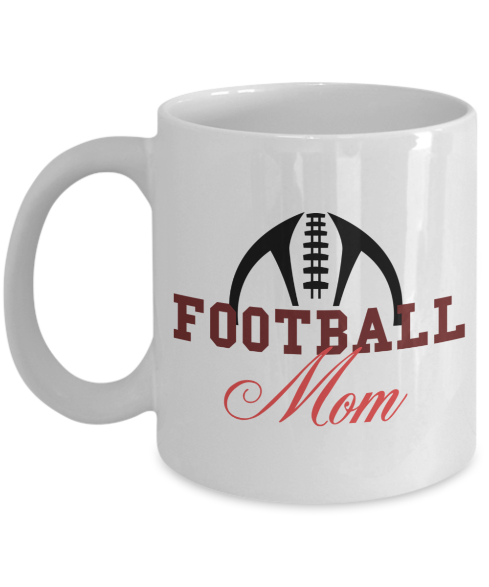 Football Mom fun gift mug