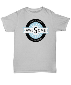 High Quality Awesome Civil Engineer T-Shirt