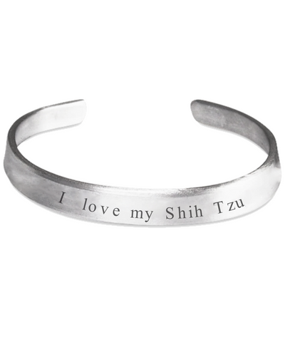 I Love My Shih Tzu Handstamped Bracelet - The VIP Emporium