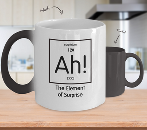 Color changing mug - The Element of Surprise - Geek Gift
