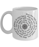 An Irish Blessing - White Ceramic with Celtic Knot