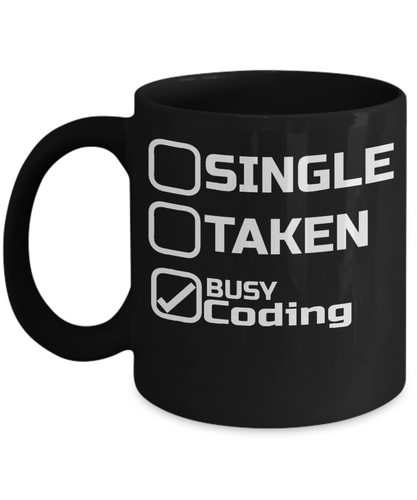 Gift for Coders and Programmers - Busy Coding Mug