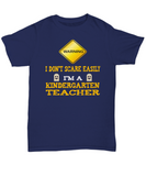 Kindergarten Teacher Halloween Shirt - I Don't Scare Easily - The VIP Emporium