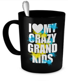 Crazy Grand Kids Mug - Grandma Gift - Gift for Papa - The VIP Emporium