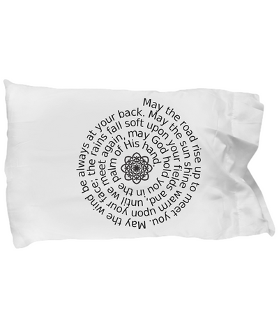 Irish Blessing with Celtic Knot pillowcase