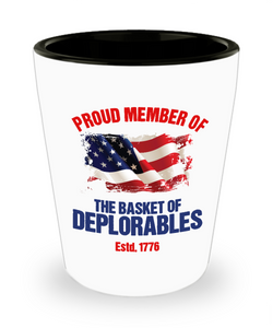 Basket of Deplorables Shot Glass