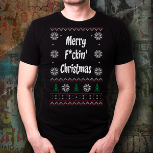 Ugly Christmas Shirt - Merry f*ckin' Christmas