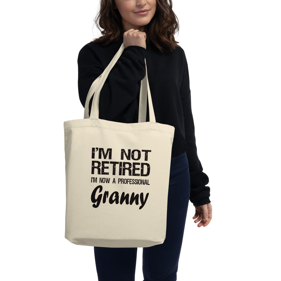 Granny Gift - Eco Tote Bag - Retiring Granny Gift - Retirement Gag Gift - 100% Certified Organic Cotton