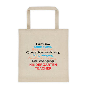 Life changing Kindergarten Teacher Gift Tote Bag