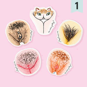 Vulva Diversity Sticker Set - happeriod