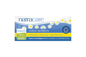 Natracare Regular Organic Cotton Tampons with Applicator - Happeriod