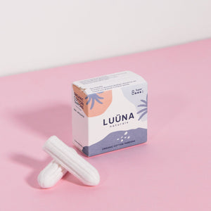 LUÜNA Naturals Organic Cotton Non-applicator Tampons (Super) (8pcs) - Happeriod