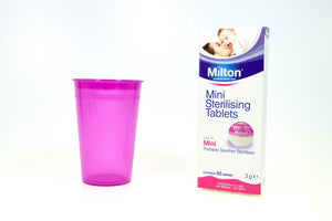 Milton Mini Sterilising Tablets with Me Luna Cleaning Cup Sterilising Set - happeriod