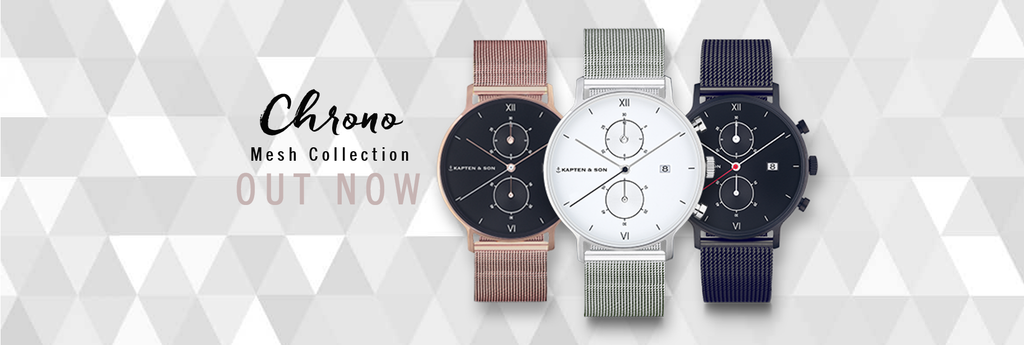kapten and son nouvelle collection montres chrono mesh