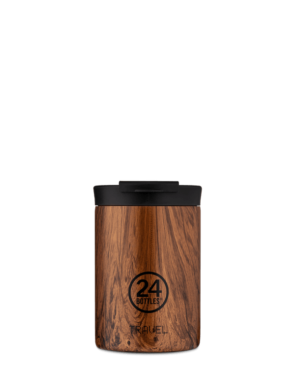 Mug isotherme 24Bottles Travel Tumbler Sequoia Wood 350ml