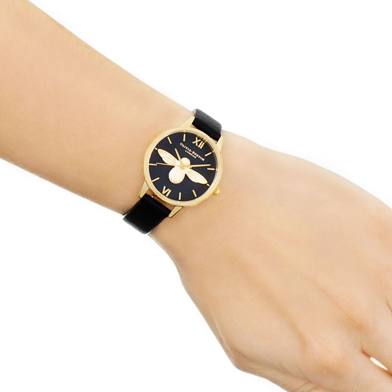 Montre Olivia Burton Animal Motif Black & Gold OB16AM118 - PRECIOVS