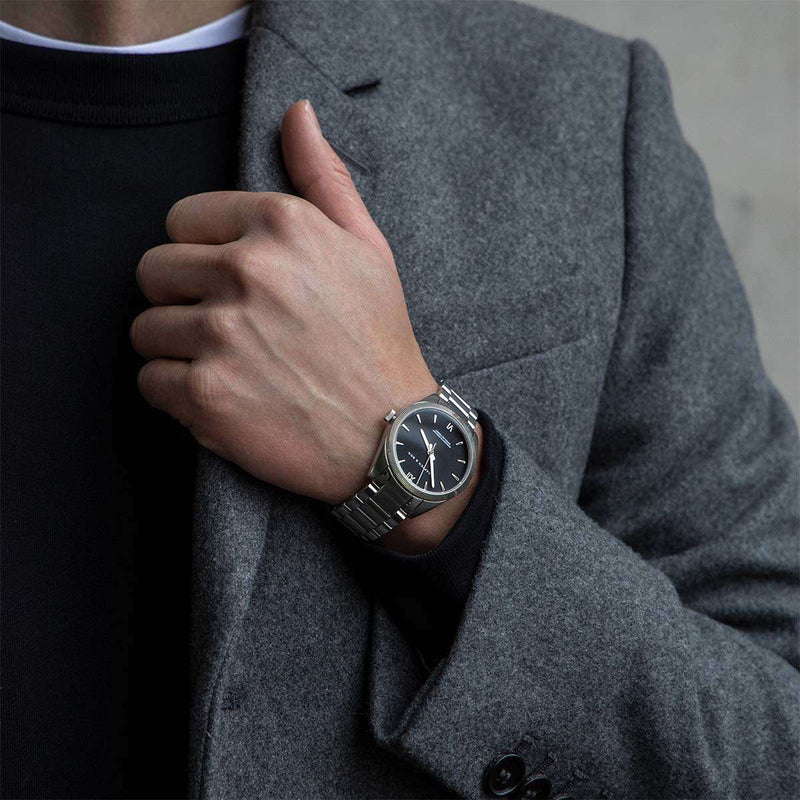 Montre Kapten & Son Crush Silver Black Steel - PRECIOVS