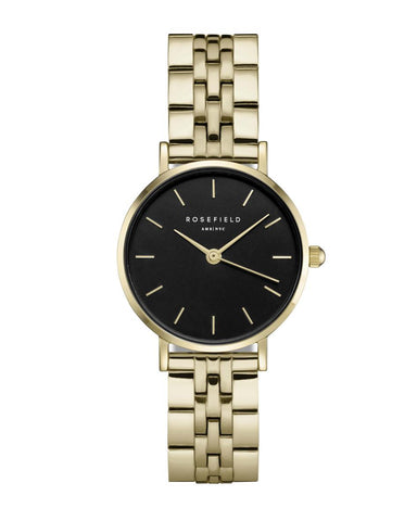 Montre Rosefield THE SMALL EDIT Black Steel Gold 268