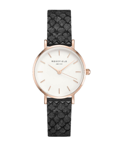 Montre Rosefield THE SMALL EDIT Blanc Noir 26WBR-261 - PRECIOVS