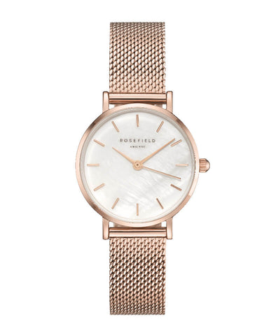Montre Rosefield THE SMALL EDIT Blanc Or Rose 26WR-265 - PRECIOVS