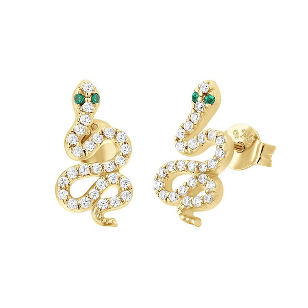 Boucle d'oreilles I.Ma.Gi.N Jewels Bo Big Snake White Or Jaune - PRECIOVS
