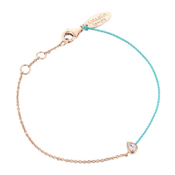 Bracelet I.Ma.Gi.N Jewels Br Pear Duo Turquoise Rose Gold - PRECIOVS