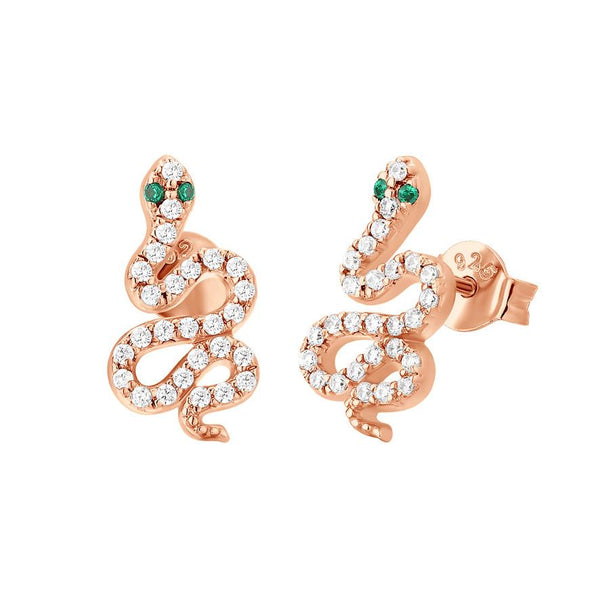 Boucle d'oreilles I.Ma.Gi.N Jewels Bo Big Snake White Rose Gold - PRECIOVS