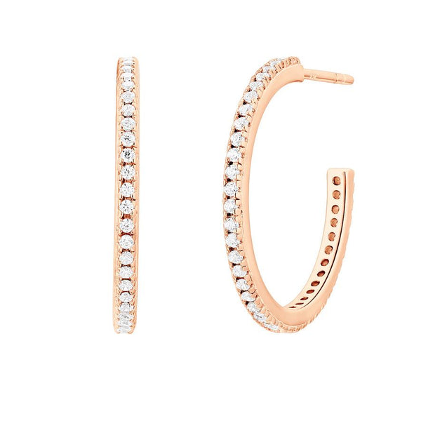 Boucle d'oreilles I.Ma.Gi.N Jewels Bo Big Hoop White Or Rose - PRECIOVS