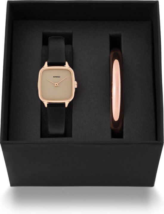 Coffret Komono Montre Kate black rose et jonc - PRECIOVS