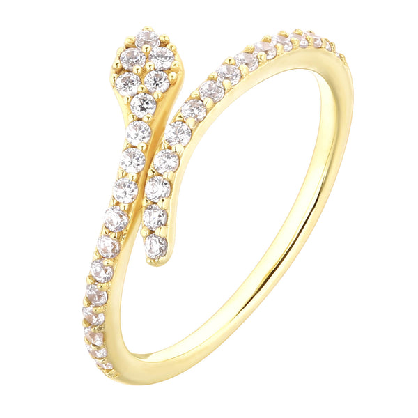 Bague I.Ma.Gi.N Jewels Ba snake white yellow - PRECIOVS