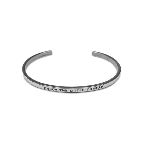 Bracelet CO88 Enjoy The Little Things acier argent 8CB-19010