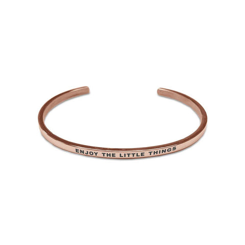 Bracelet CO88 Enjoy The Little Things acier rose gold 8CB-19012