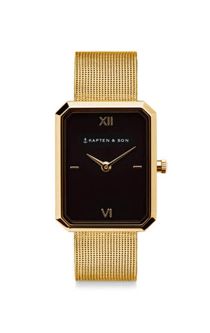 Montre Kapten & Son Grace Gold Black Mesh