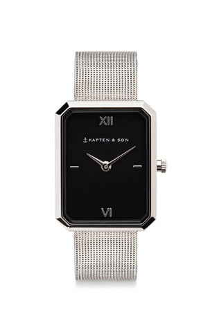 Montre Kapten & Son Grace Silver Black Mesh