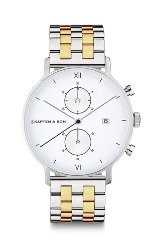 Montre Kapten & Son Chrono Silver Bicolor Steel
