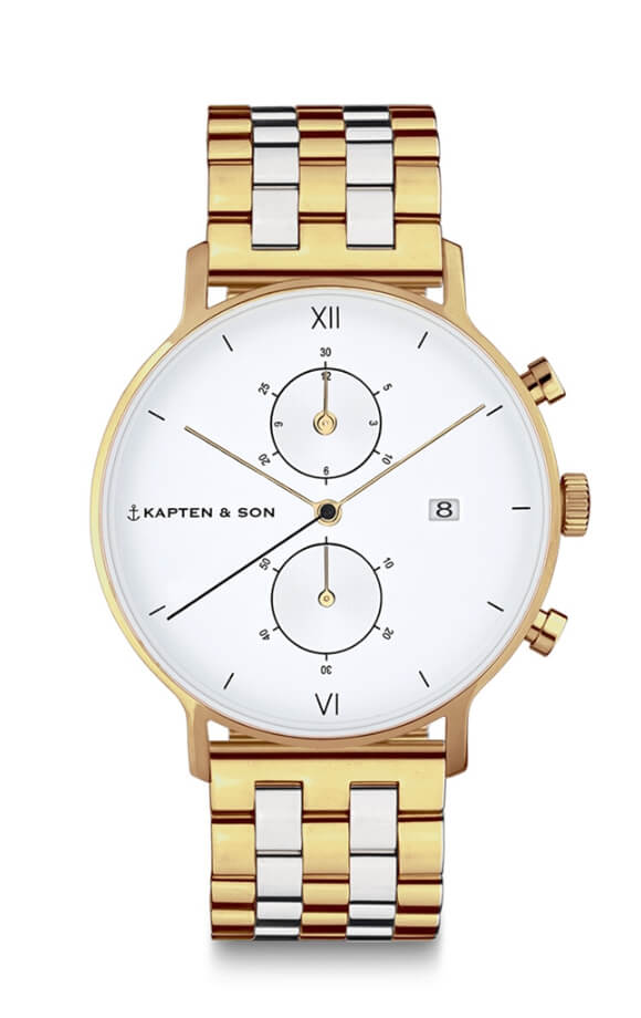 Montre Kapten & Son Chrono Gold Bicolor Steel - PRECIOVS