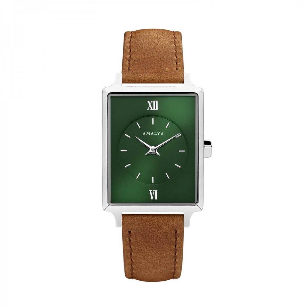 Montre Amalys Adèle Silver Green/Brown