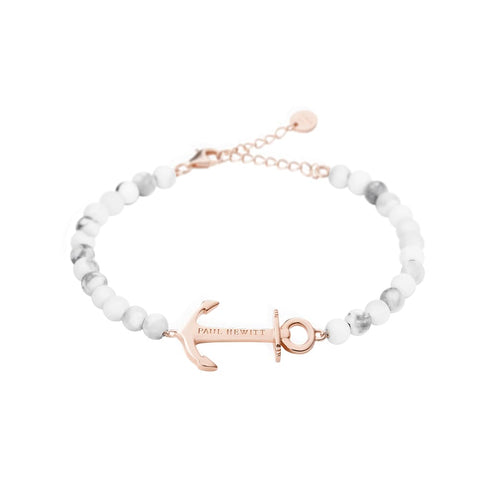 Bracelet Paul Hewitt Anchor Spirit Marble IP Or Rosé - PRECIOVS