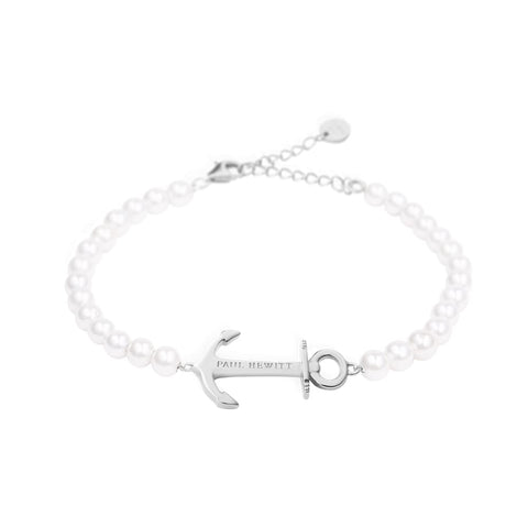 Bracelet Paul Hewitt Anchor Spirit Pearl Acier Inoxydable