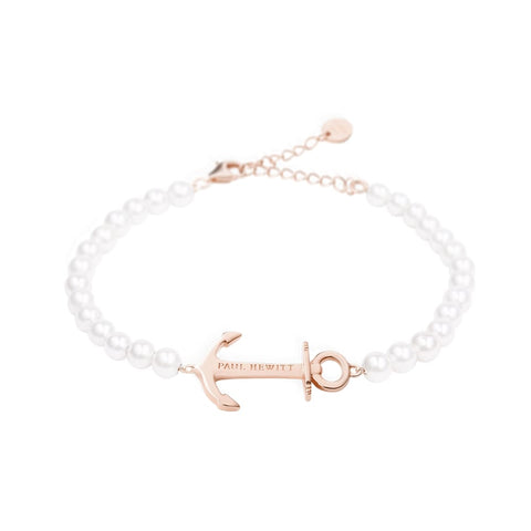 Bracelet Paul Hewitt Anchor Spirit Pearl IP Or Rosé