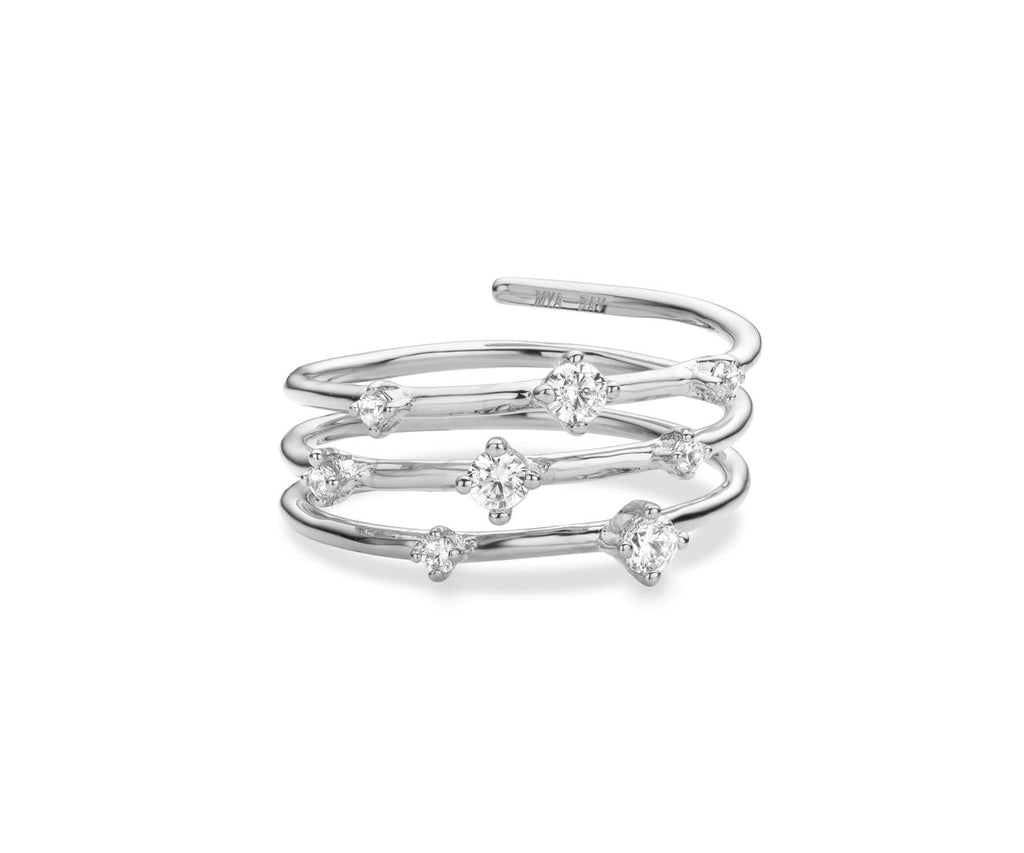 Bague MYA BAY Hoops - Pierres blanches BA-66.S