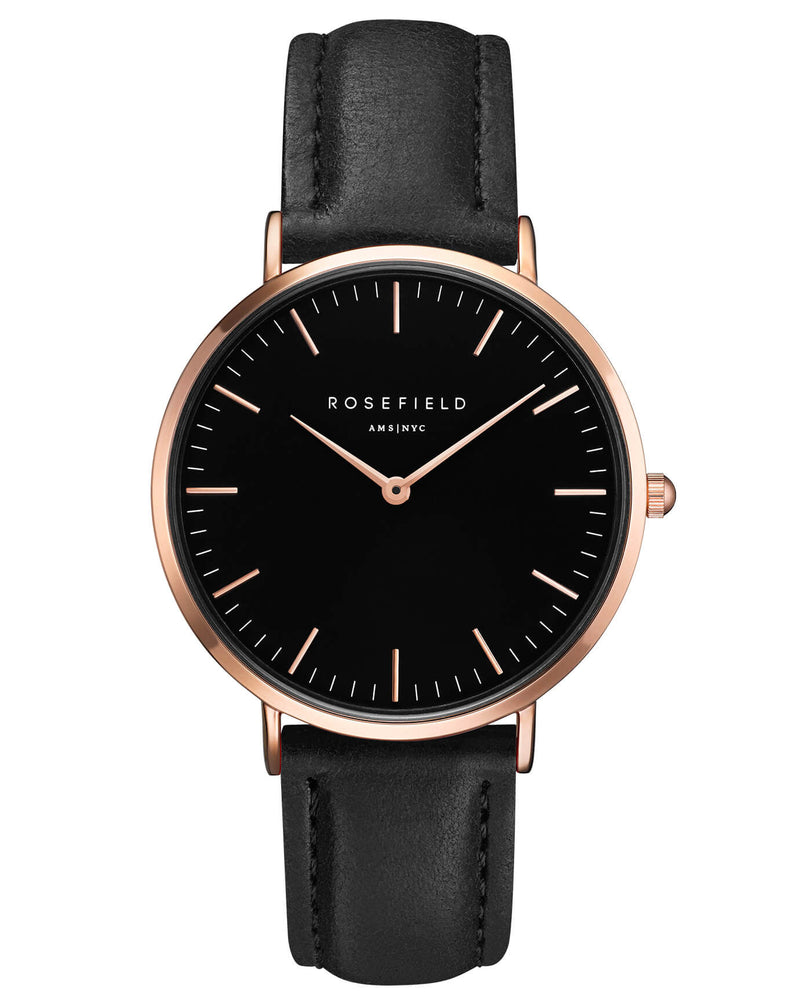 Montre Rosefield The BOWERY Black Black Rose Gold BBBR-B11 - PRECIOVS