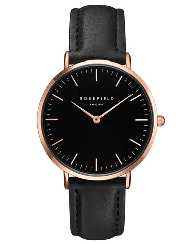 Montre Rosefield The BOWERY Black Black Rose Gold BBBR-B11
