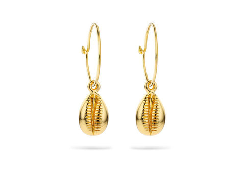 Boucles d'oreilles MYA BAY Cauris - Or BO-53.G